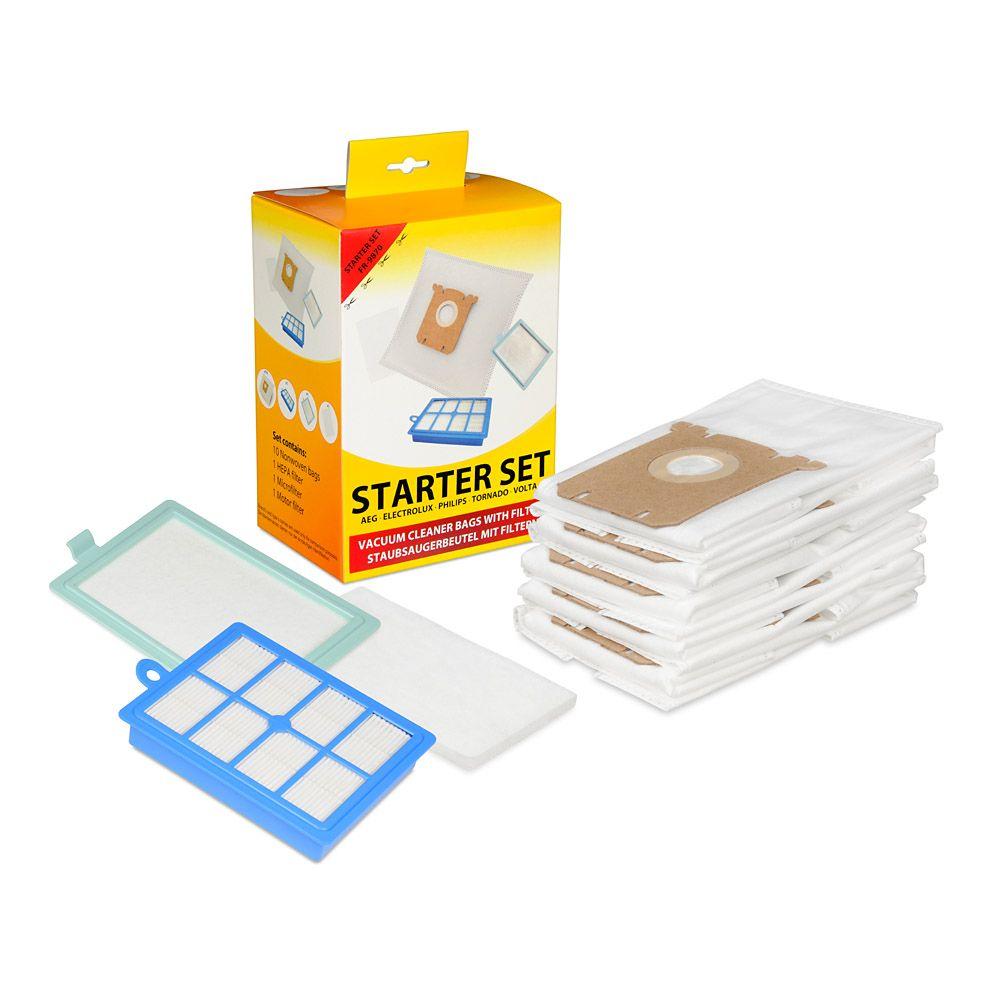 10 Staubsaugerbeutel 2 Filter passend für Philips Silentstar FC9300-FC9319