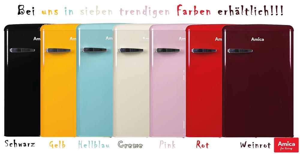 Retro Kühlschrank Mit Gefrierfach : Amica retro kühlschrank schwarz a l gefrierfach ks s ebay